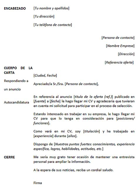 Modelo De Carta De Presentacion De Un Curriculum Vitae C 243 Mo Hacer Una Quot Carta De Presentaci 243 N Quot Aulua