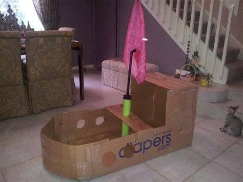 cardboard boat tutorial homemade cardboard boat my style pinterest boats