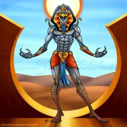 How to draw ra the egyptian sun god step by step fantasy characters