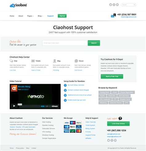 file hosting template ciaohost responsive hosting html template by tansh