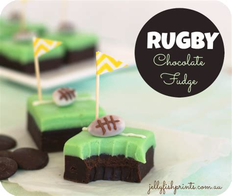 How To Make A Rugby Out Of Paper - chocolate fudge for a rugby jellyfish prints