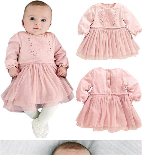 dress for newborn pink christening lace dress for baby infant