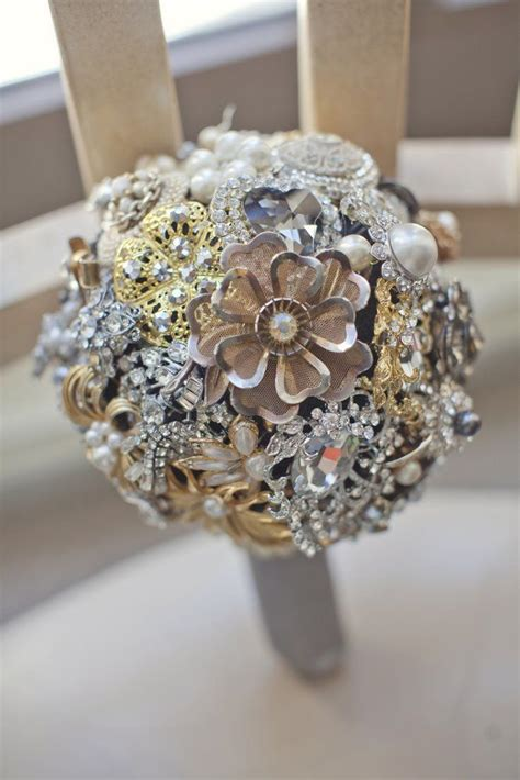 Wedding Bouquet Vintage Brooches by Vintage Brooch Bridal Bouquet Vintage Brooch Bouquets