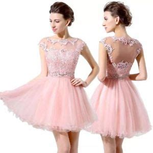 2018 junior 8th grade party dresses pink short prom