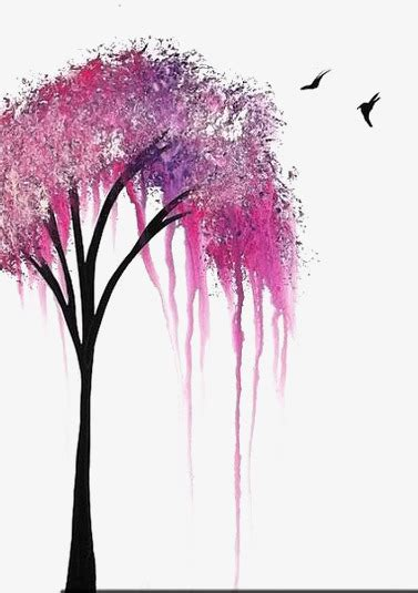 drawing trees creative trees pink trees sapling png