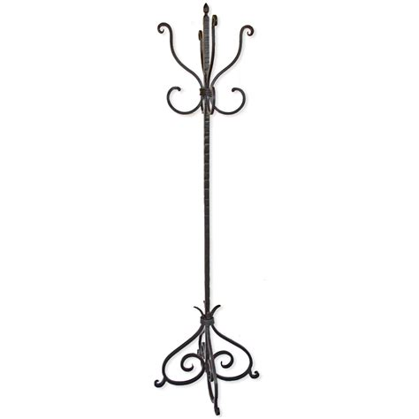 wrought iron standing coat rack by mathews co