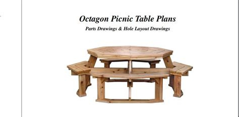 octagon picnic table plans 39 free picnic table plans to build this summer home and