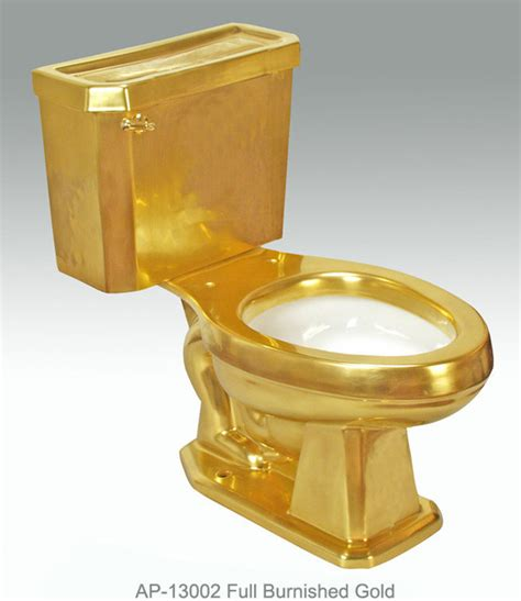 Full gold amp platinum decorations modern toilets miami by atlantis porcelain art corp