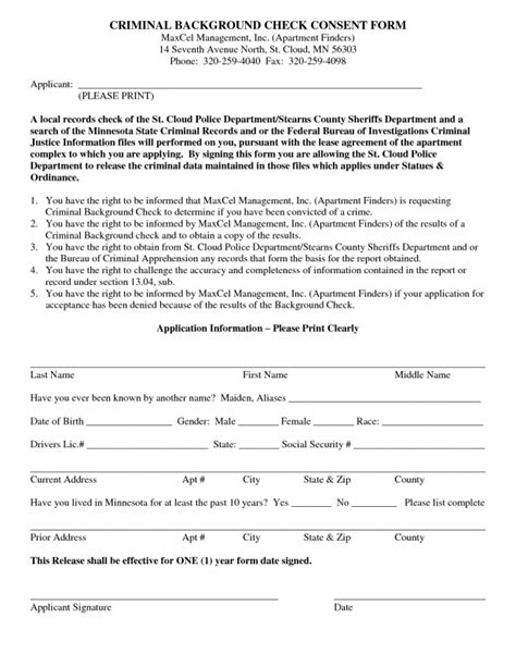 Background Check Authorization Form For Tenant Checks Template Background Check Authorization Form Pdf