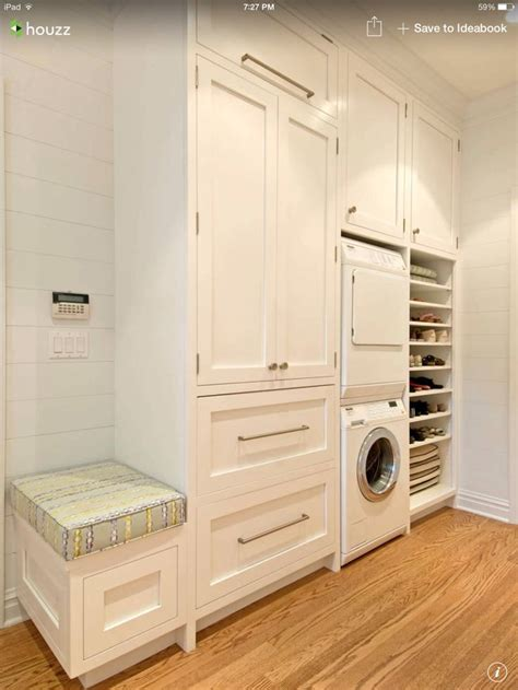 Storage Laundry Room Stacked Washer Dryer With Storage Laundry Closet Pinterest Washers Storage And Dryers