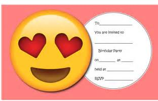 Throw The Ultimate Emoji Party Free Emoji Printables Emoji Decorations Craft Ideas The Emoji Birthday Invitation Template