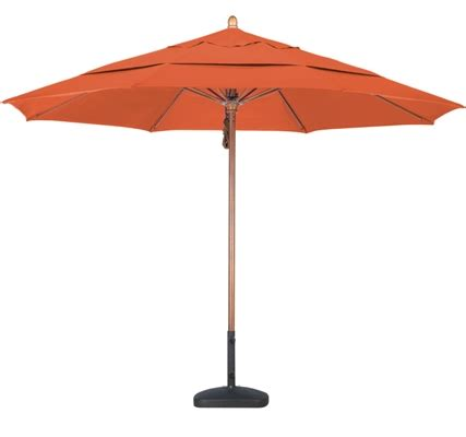 sunbrella aa eleven foot wood market umbrella