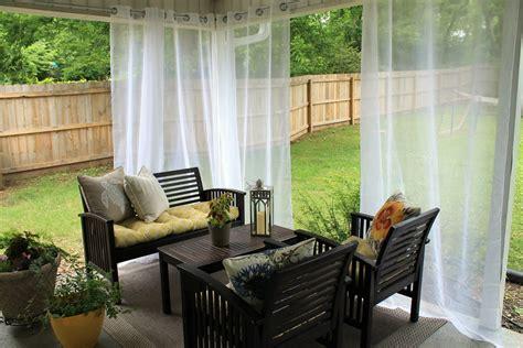 diy outdoor curtain rod diy curtain rod chippasunshine
