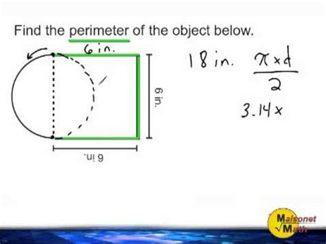 how to calculate perimeter grade 7 semicircles calculate area perimeter radius and diameter lumos learning