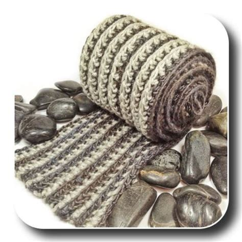 ribbed knitted scarf pattern free s reversible ribbed crochet scarf expression fiber