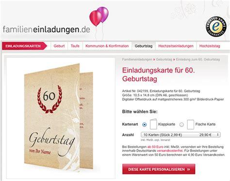 Muster Einladung Zum 60 Geburtstag Einladungskarte 60 Geburtstag