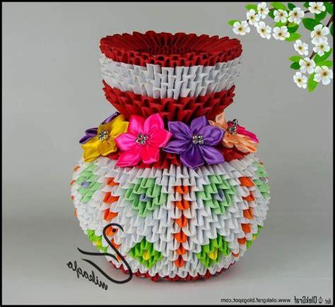 3d Origami Flower Vase Tutorial - origami 3d flower vase tutorial mikaglo