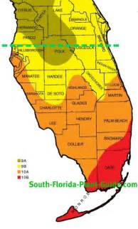 florida timezone map plant zone map