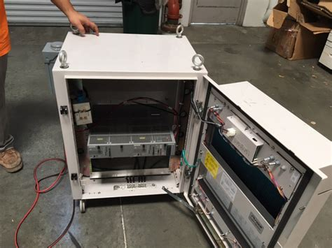 purcell cabinet with cooling fan usedshelter used
