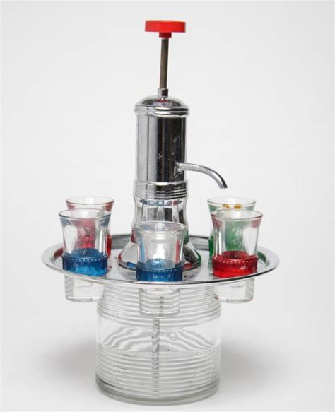contemporary barware mid century modern barware shot glass carousel