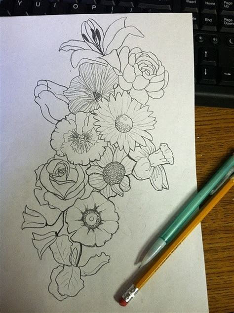 flower collage tattoo designs pin by cavender on tattoos