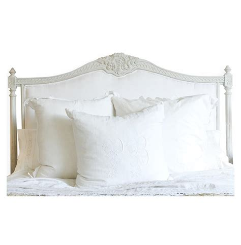 White Upholstered Headboard Louis Xvi Country White Cotton Upholstered Headboard Kathy Kuo Home