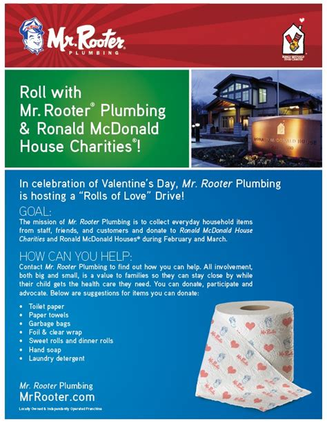Mcdonald Plumbing by Roll With Mr Rooter Plumbing And Rmhc Giving Back To