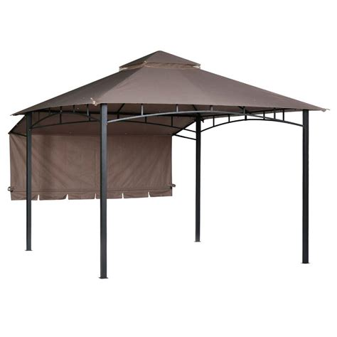 patio gazebos patio furniture the home depot - Backyard Gazebos Home Depot
