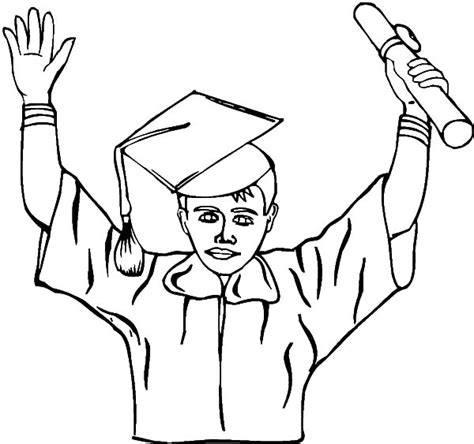 boy graduation coloring page 83 boy graduation coloring page kindergarten