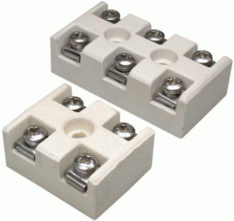Terminal Keramik Blok 2 Pole 20a 1 Terminal Blocks Electric Heating Elements Friedr