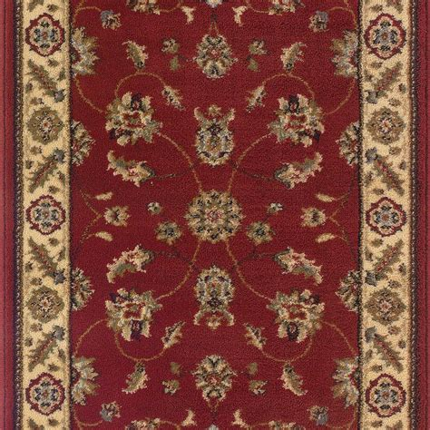 roll runner rugs natco sapphire sarouk claret 26 in x your choice length roll runner 4341 21 15me the home depot