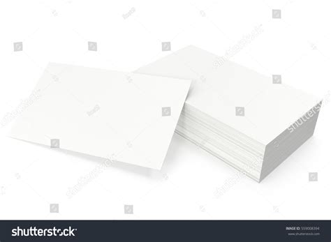 Business Card Template Render by Business Cards Blank Mockup Template On Stock Illustration
