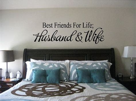 bedroom ideas for husband and wife best friends for life husband wife wall quote vinyl