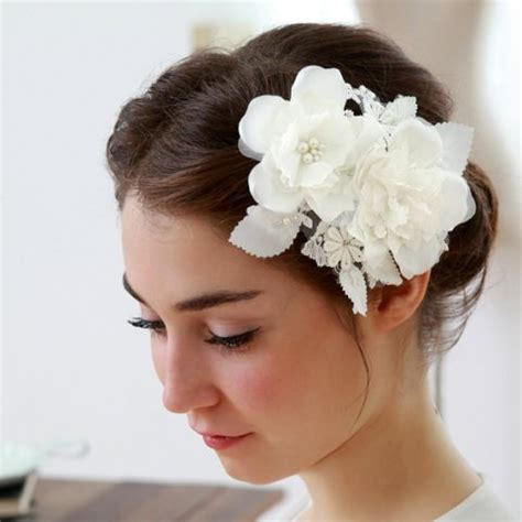 white wedding hairstyles 15 glamarous wedding hair flowers to accessorize your