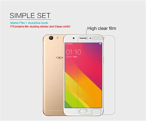 Anti Oppo F1s A59 nillkin clear anti fingerprint protective for