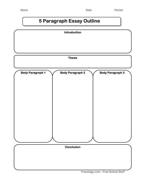 printable graphic organizer for informational writing great 5 paragraph expository essay graphic organizer i