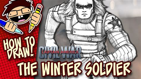 c tutorial youtube bucky how to draw the winter soldier captain america civil war