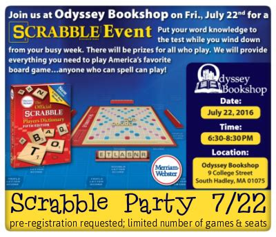 want to play scrabble scrabble event the odyssey bookshop