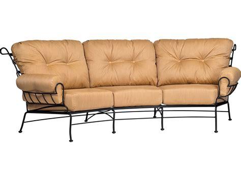 wrought iron outdoor sofa woodard terrace cushion wrought iron crescent sofa 790064