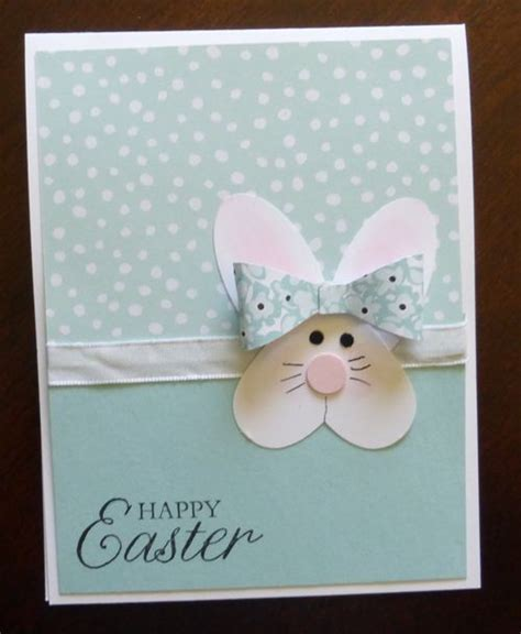 Handmade Easter Cards - handmade easter card punch bunny from a