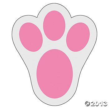 easter bunny paw prints for after the easter bunny visits