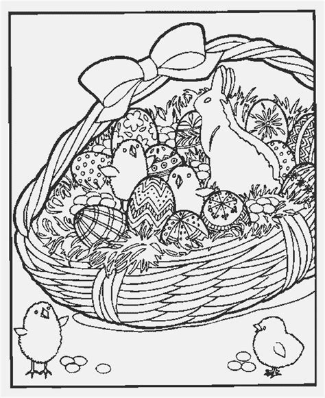 coloring page of an easter basket easter pages to color coloring pages part 2