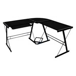 walker edison soreno lshape computer desk with sliding
