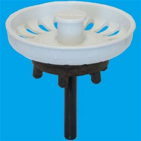 kitchen sink plug strainer white kitchen sink basket strainer waste plug 39000023