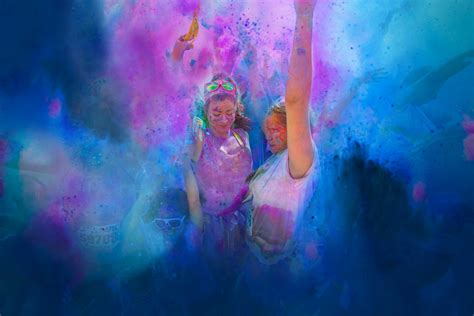 what color are the color me rad 5k color race home