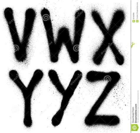 free spray paint style font graffiti spray paint font type part 4 alphabet stock