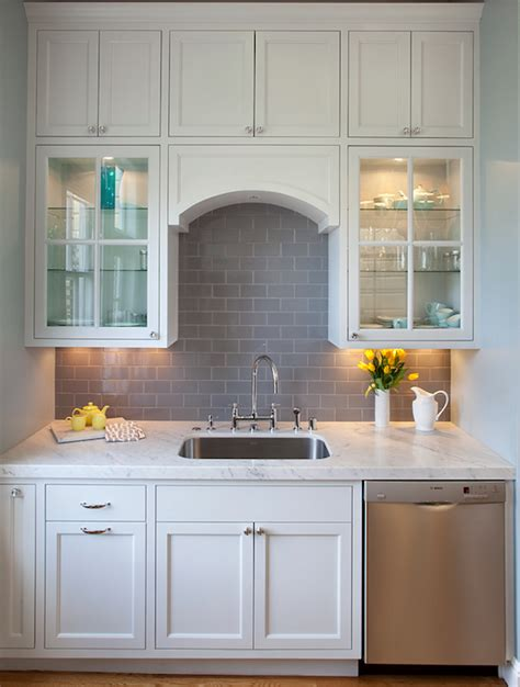 white subway backsplash grey subway tile backsplash contemporary kitchen