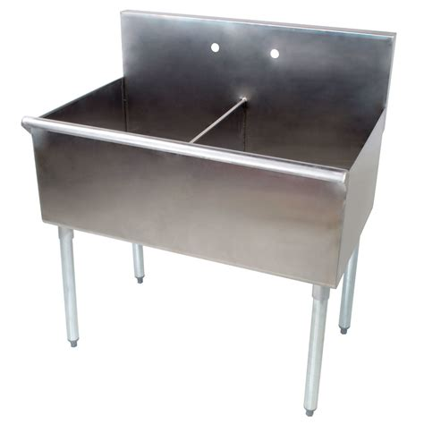 Stainless Steel Commercial Sinks by Regency 36 Quot 16 Stainless Steel Two Compartment