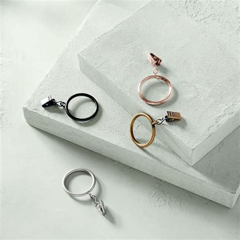 curtain round rings round metal curtain rings west elm