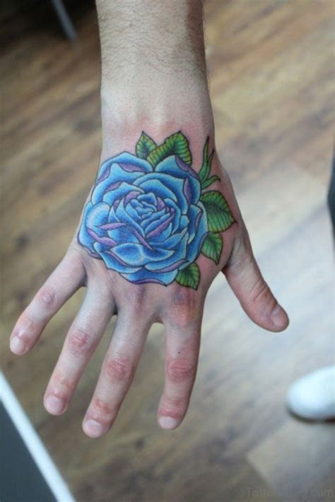 blue rose tattoos 30 fantastic blue tattoos on